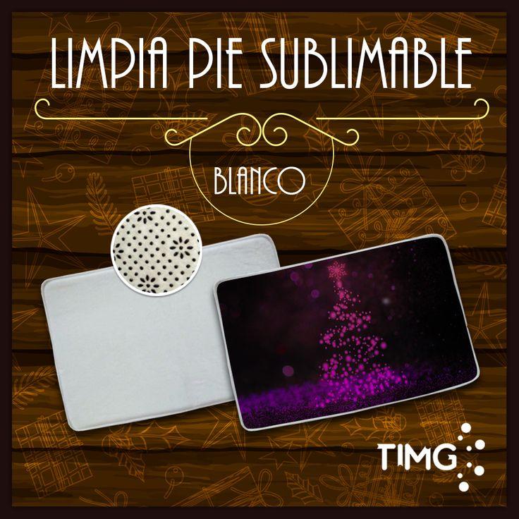 Disponible en stock #TIMG Limpia Pie Sublimable Blanco en dos formatos: Limpia Pie Grande 50x80cm Limpia Pie Pequeño 40x60cm ¡Aprovecha su existencia y #SublimaconTIMG! Para saber mas ingresa a http://www.suministro.cl/SearchResults.asp?Search=limpia+pie+sublimable&Search.x=0&Search.y=0