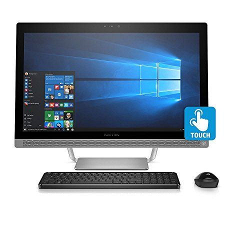 """2018 HP Pavilion 23.8"""" All-in-One FHD IPS Touchscreen Desktop, Intel Quad-Core i5-6400T 8GB DDR4 1TB HDD DVDRW 2GB NVIDIA GeForce 930MX graphics B&O PLAY Sound WLAN HDMI RealSense Camera Win 10 - With the brilliant edge-to-edge IPS display, custom audio tuning by B&O PLAY, and HP dual front-firing speakers, your whole family will be captivated. PRODUCT OVERVIEW: 1. 6th Generation Intel Core i5-6400T Processor:Master multitasking with four cores that efficiently divide up your tasks..."""