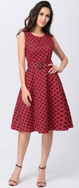 Fashion Vestidos Summer Women Dress Dot Print Cotton Elegant Sleeveless Casual Party Dresses White, Black, Red