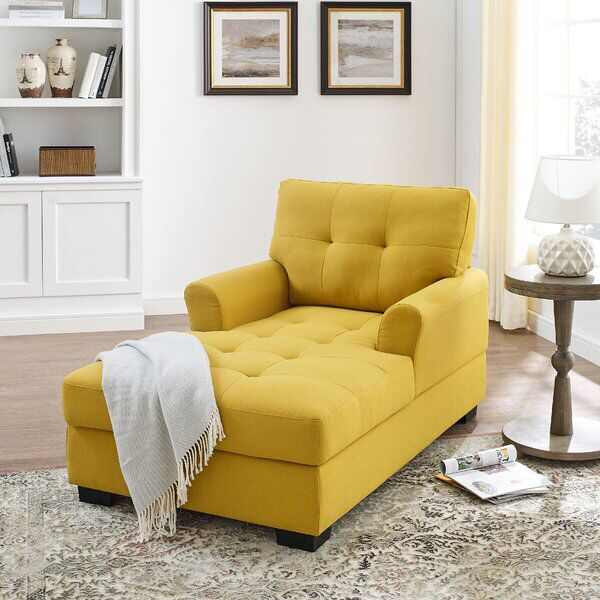 Bowbridge Chaise Lounge In 2020 Yellow Chaise Lounge Chaise Lounge Living Room Chaise Lounge Chair