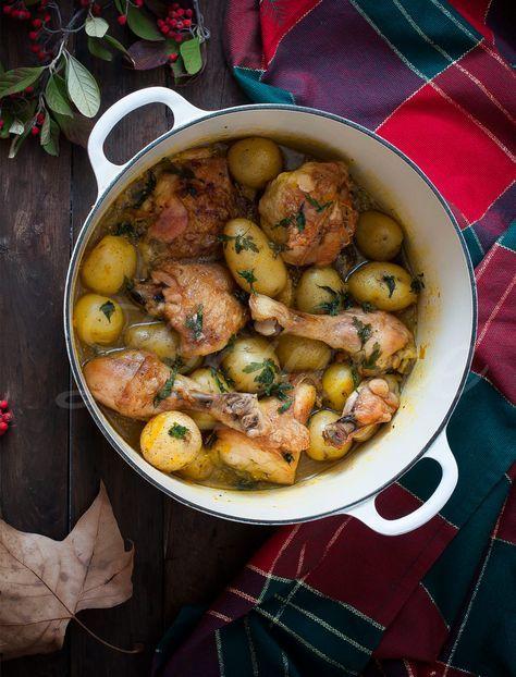 Receta de Fricasé de pollo en Cocotte Le Creuset