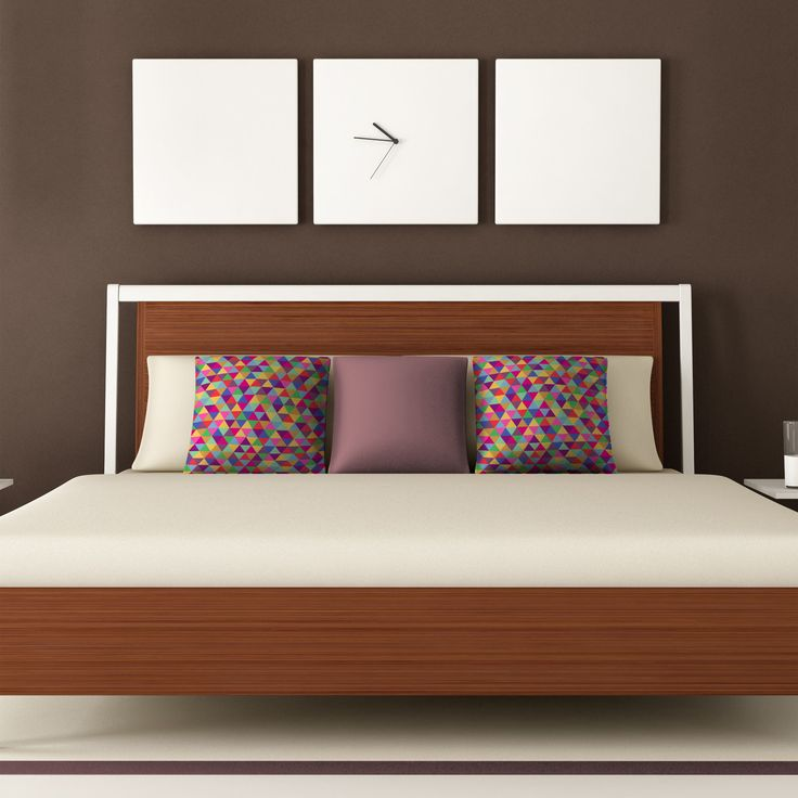 DENY Designs Bianca Green Triangles Throw Pillow   AllModern