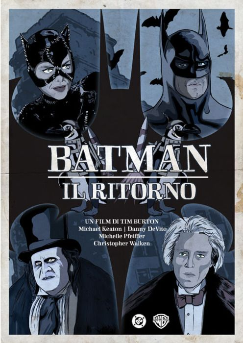 Cool fan-made italian BATMAN RETURNS poster: Batman Return