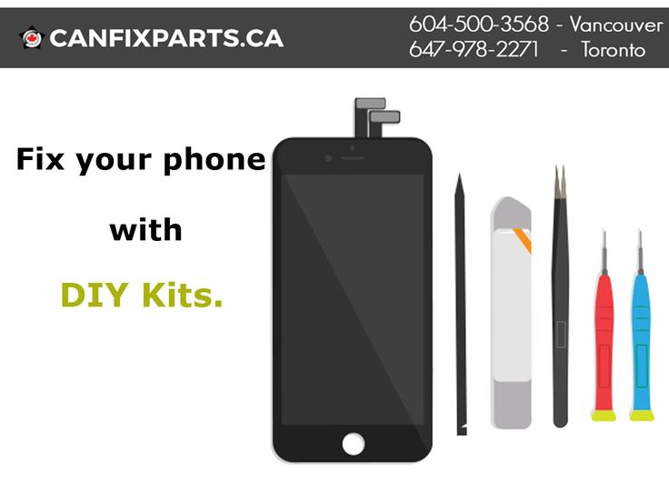 Now #phone #repair is easy with a #DIY kit! Place your order now! Dial: +1 647-860-2271/ 604-721-8495 or visit https://canfixparts.ca/ to know more.