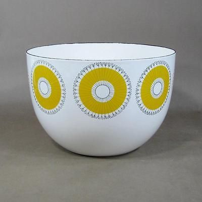 Signed FINEL Arabia 'Sunburst' Enamel Bowl Designed by KAJ FRANCK, Finland 1960s