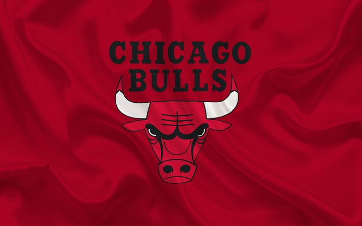 Herunterladen hintergrundbild chicago bulls, nba, usa, basketball, basketball club, chicago bulls emblem, rot-seide