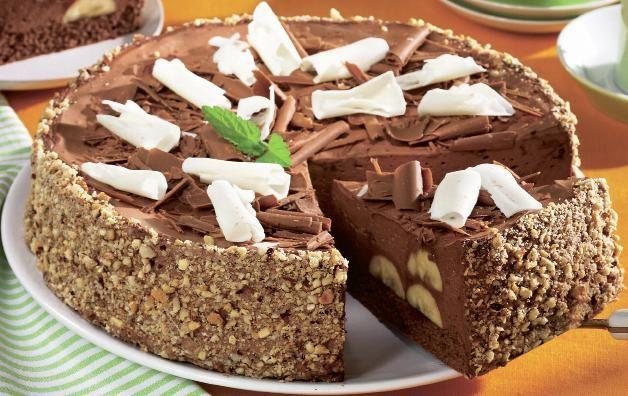 Tort de ciocolată cu banane - Retete culinare - Romanesti si din Bucataria internationala