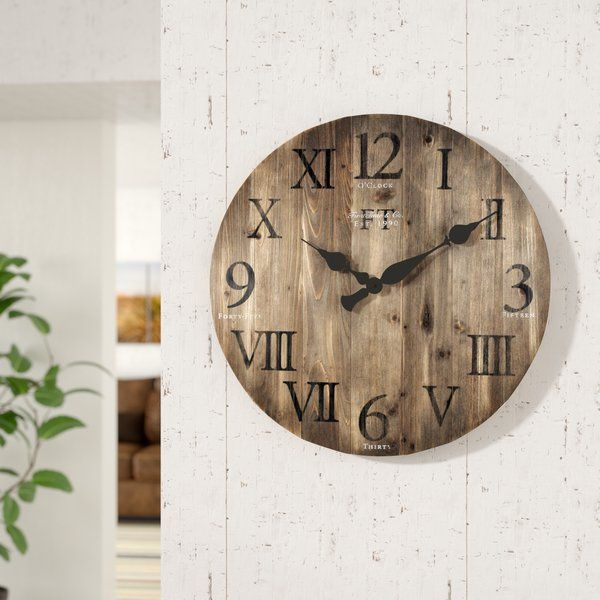 Oversized Crosby 24 Wall Clock Oversized Wall Clock Rustic Wall Decor Wood Wall Clock