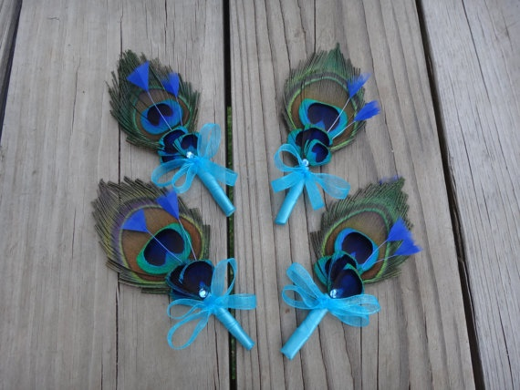 Peacock corsages