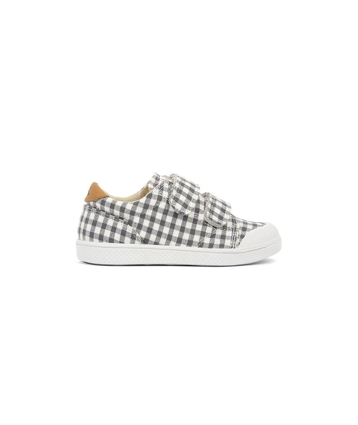 10IS Shoes Ten Velcro Print Vichy grey-silver