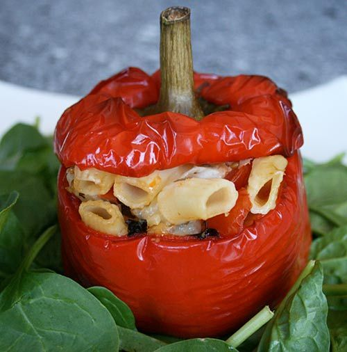 Stuffed Peppers....this is the best authentic Italian cooking blog. A picture of every recipe too.