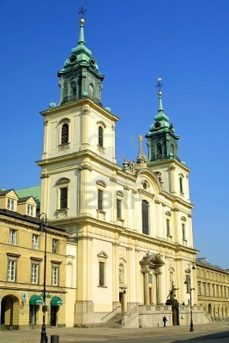 """Warsaw, Poland. Catholic church where Chopin's heart was later sealed within a pillar of the Holy Cross Church on Krakowskie Przedmieście, beneath an epitaph sculpted by Leonard Marconi, bearing an inscription from Matthew VI:21: """"For where your treasure is, there will your heart be also."""""""