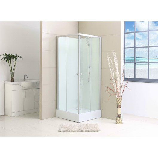 Cabine de douche Nerea2 simple mitigeur carré 80x80 cm
