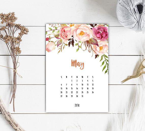 2018 17 blank calendar