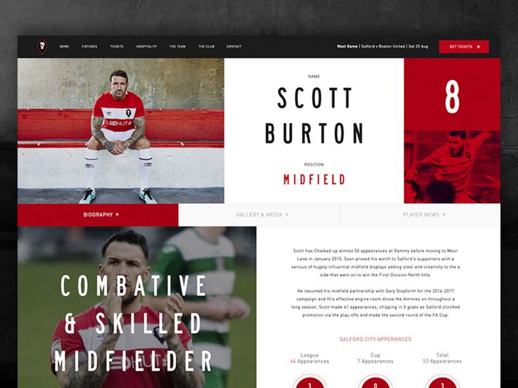 Player Profile for Salford City Football Club. www.salfordcityfc.co.uk