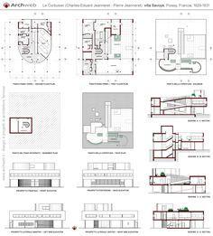 25 best ideas about villa savoye plan on pinterest for Villa plan dwg