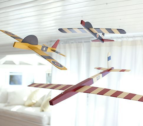 Hanging Clipper Planes Pottery Barn Kids Drake Boy Room Keeping Kid S Rooms
