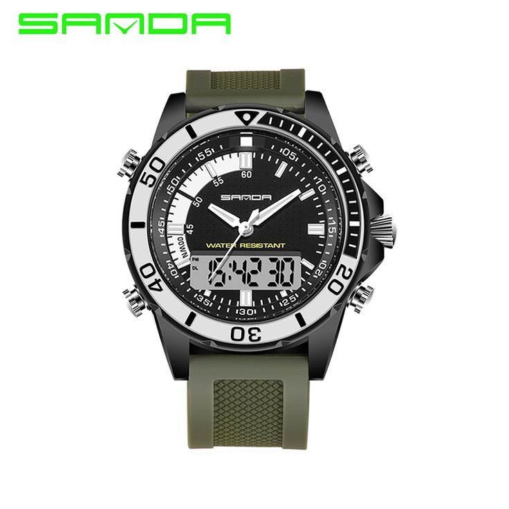 2017 SANDA Brand Luxury Men's Digital Watch Fashion Male G Style 3 ATM Waterproof Sports Military Army Green Relogio Masculino-in Sports Watches from Watches on Aliexpress.com | Alibaba Group