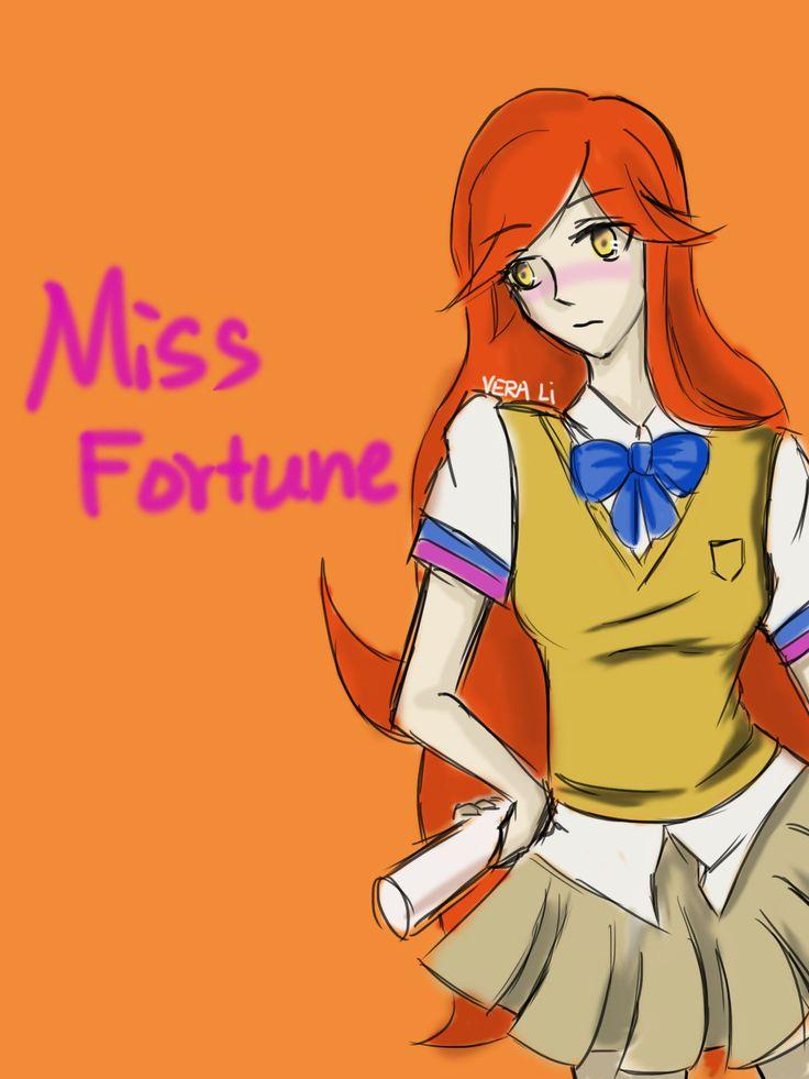 Miss fortune as JK(Japanese high school uniform)
