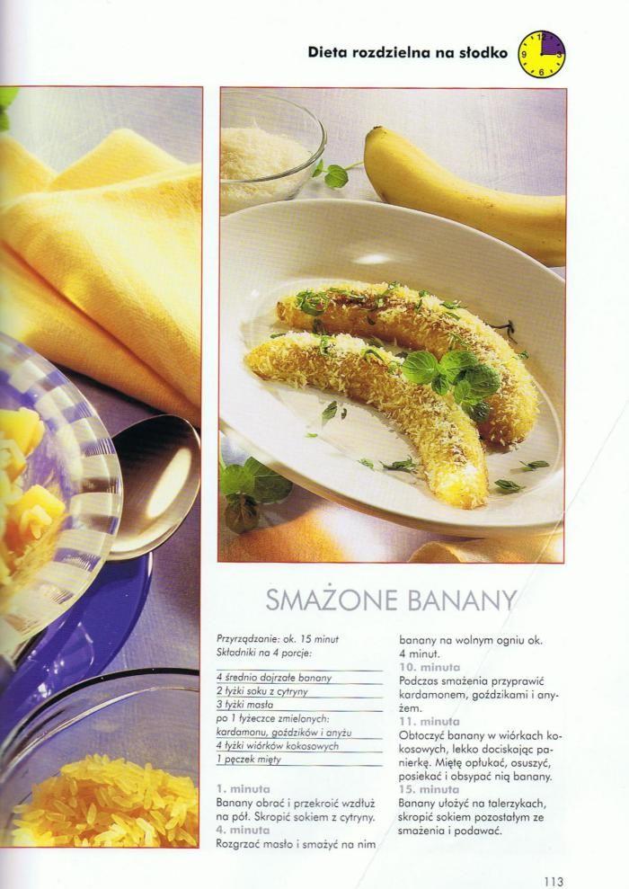 Smażone banany - dieta rozdzielna