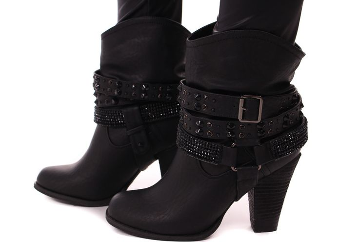 Lime Lush Boutique - Black Stud Detail Boot, $89.99 (http://www.limelush.com/black-stud-detail-boot/)