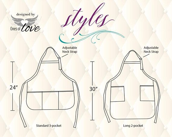 Personalized Custom Apron for the hairdresser or hair stylist. Perfect gift for a holiday, special birthday, Mothers Day gift or thinking of you gift. ADULT APRON: White 3-pocket apron measures aprox. 22x24. 65% Poly, 35% cotton and has adjustable neck strap. These are not made of vinyl