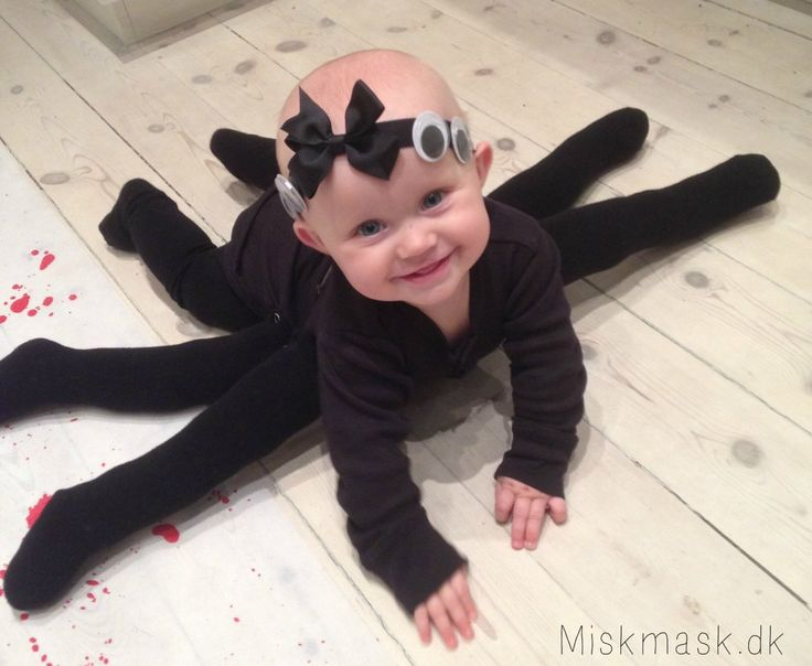 baby spinne kostm idee fr halloween karneval fasching - Halloween Costume For Baby Girls