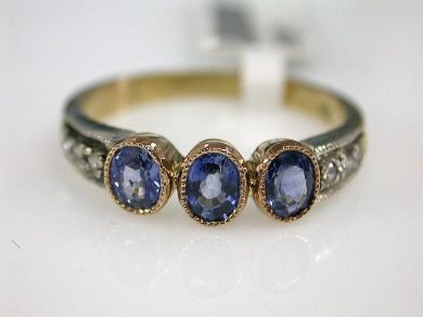 Antique Style Sapphire Ring.                                                                                                                                                                                 More