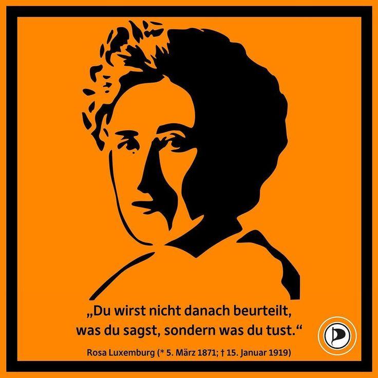 In Gedenken an Rosa Luxemburg -  einer Frau mit großen Taten UND starken Worten.  #rosaluxemburg #luxemburg #lldemo #ZitatDesTages #zitate #zitat #zitateundsprueche #zitateundsprüche #quotes #quote #dailyquote #dailyquotes #quoteoftheday #SpruchDesTages #smartgerecht #piraten #piratenpartei #politik #ltnrw #landtag #landtagswahl #ltw17 #ltwnrw17 #wahl2017 #nrw #nordrheinwestfalen #instagood #ig_nrw