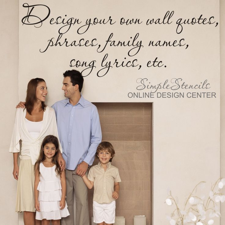 Easy to use online designer let's you create beautiful meaningful words and phrases to add inspiring design elements to your home decor. Removable wall quotes and decals are easy to install, look painted on but removable when you are ready for a change! www.TheSimpleStencil.com