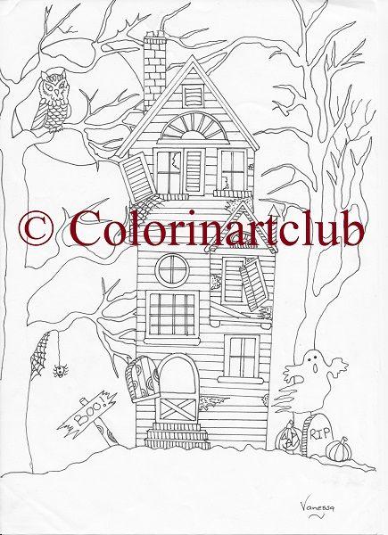 Happy Halloween ten unique designs R55 / $5 https://www.colourinartclub.com