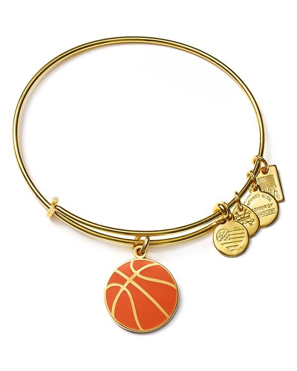 """Featuring a charm inspired by Team Usa Basketball, this shining bangle from Alex and Ani makes a sporty statement. 
