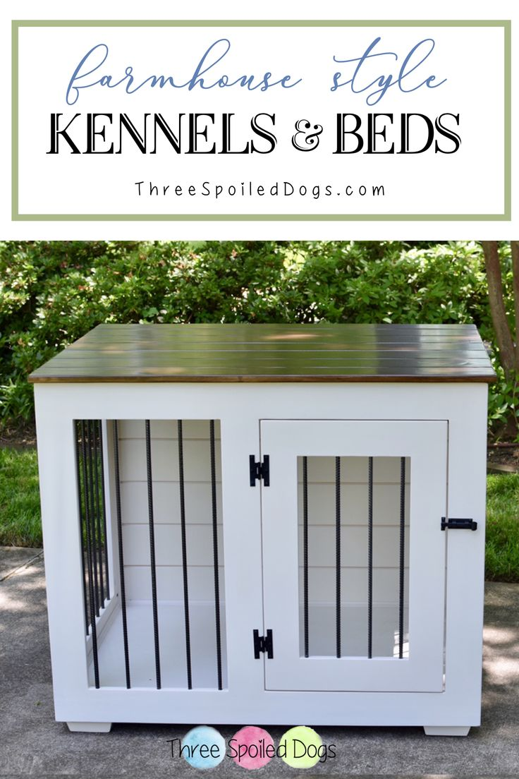 A Custom Indoor Kennel by Three Spoiled Dogs. The perfect