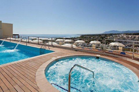 Pool  at Playa Senator Hotel Marbella, Spain.