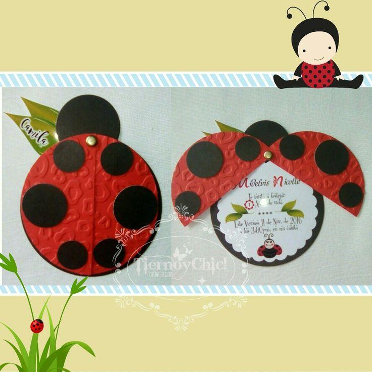 Invitaciones ladybug fiesta de cumplea os de ni a - Fiesta de cumpleanos para nina ...