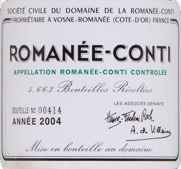 Domaine de la Romanee-Conti Romanee-Conti Grand Cru, Cote de Nuits, France