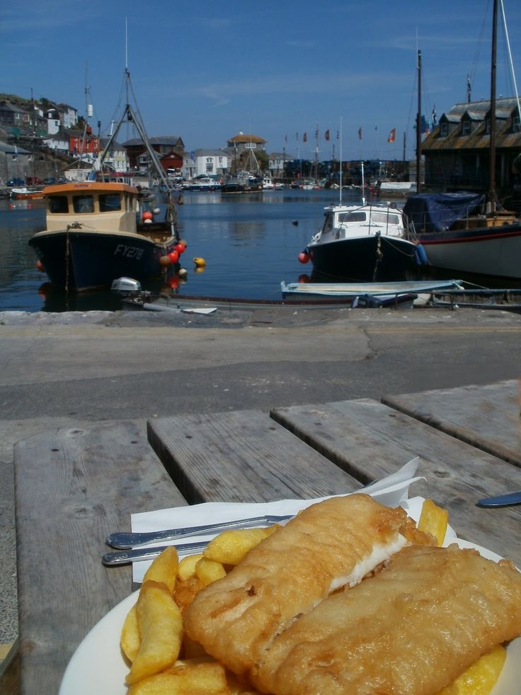 Can't beat Mevagissey fish and chips - CORNWALL