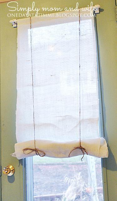 DIY Home Decor: DIY No Sew Burlap Roman Shades