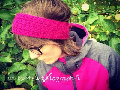 AS-kartelut: Virkattu pääpanta #virkkaa #panta #crochet #headband