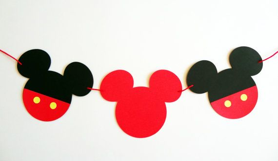 Mickey Mouse Banner  #mickey #banner #birthday