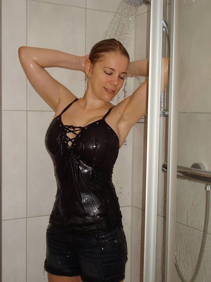 Video. High wet clothes sex got