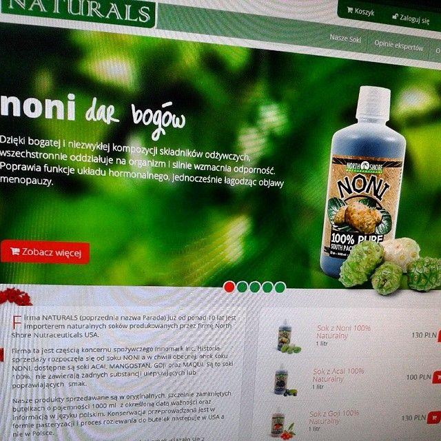 www.sokinaturals.pl | #noni #naturals #website #razdwaprojekt #strona #MODX www.razdwaprojekt.pl/portfolio/soki-naturals/