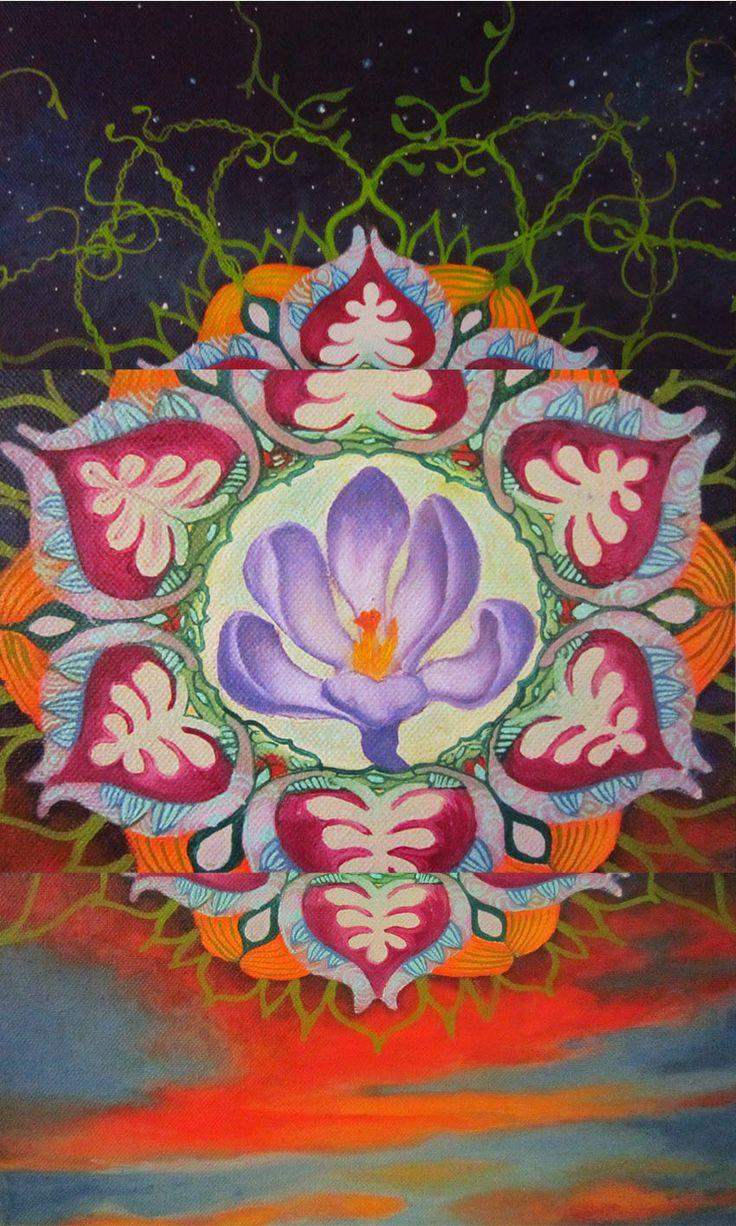 mandala flower of the sky