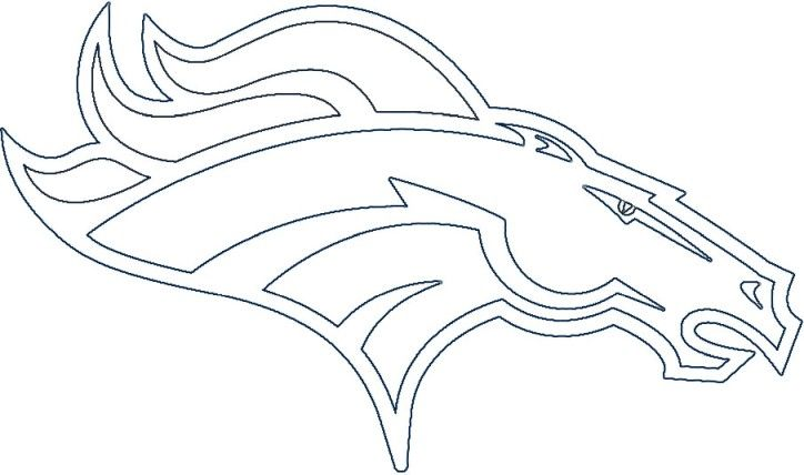 Denver Broncos Logo Denver Broncos Logo, Broncos Logo, Coloring Pages