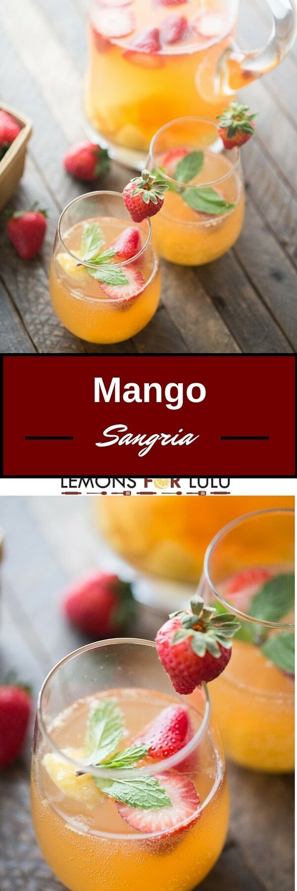 Mango sangria #drinks
