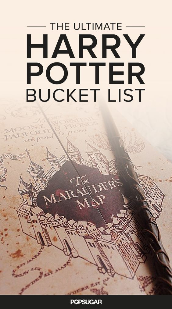 When you look into the Mirror of Erised, you'll see yourself with this completed Harry Potter bucket list.