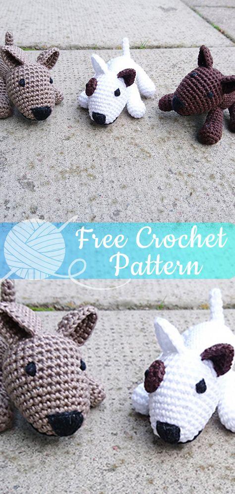 Bullterrier amigurumi [CROCHET FREE PATTERNS] - All About Crochet ...