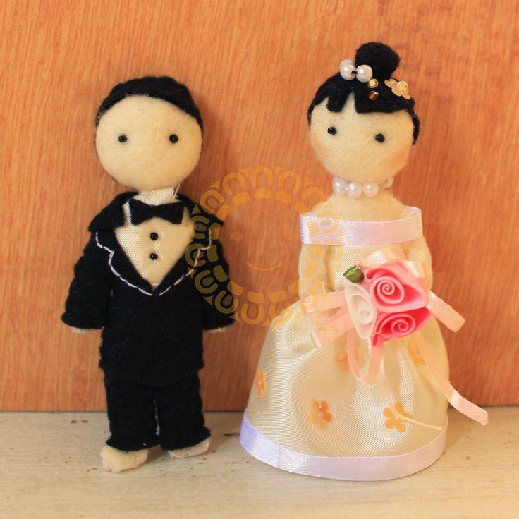 Miki Felt Craft House: TUTORIAL boneka Wedding Couple dari flanel