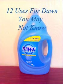 Texasdaisey Creations: 12 Uses For Dawn Dish Soap You May Not Know  Great DIY home and lifestyle tricks and hacks! Creative home remedies, tips and ideas on how to use Dawn dish soap