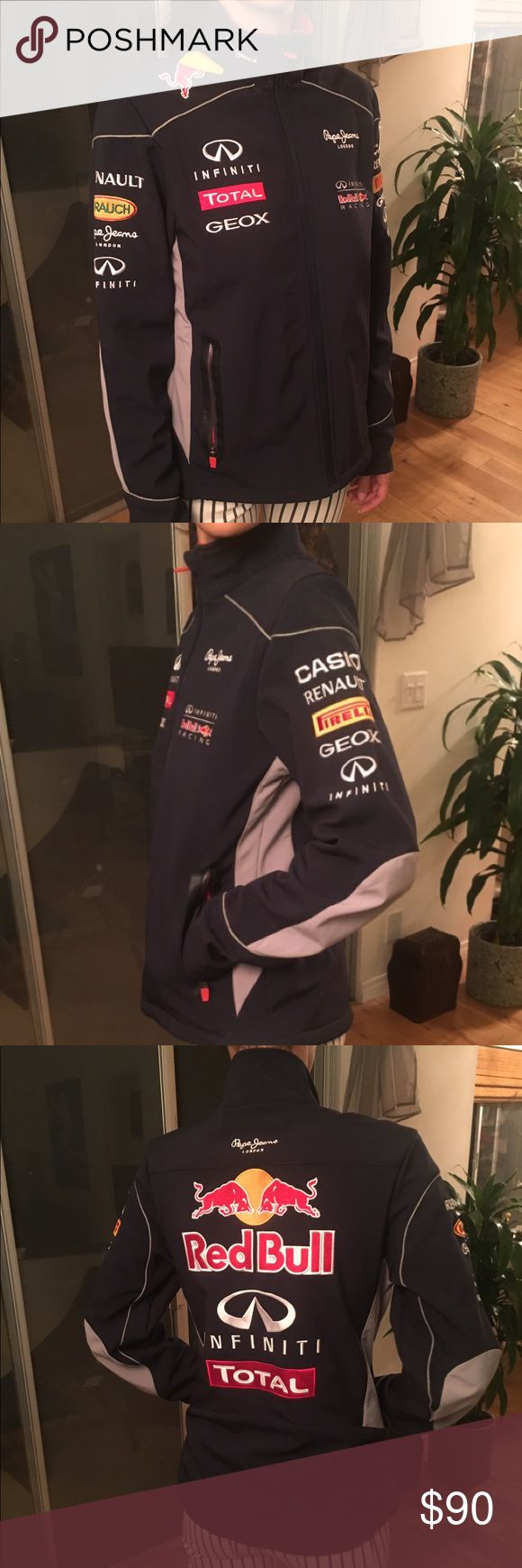 Formula One Infiniti Red Bull Racing Jacket Vettel Perfect for a true Formula One Racing Fan! This is the real deal! Official Navy Formula One Infiniti Red Bull Racing Jacket! Jackets & Coats Utility Jackets
